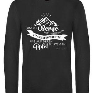 Um die Berge herum Langarm T-Shirt