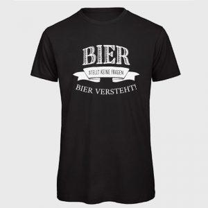 Herren T-Shirt Bier versteht