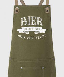 Bier versteht Grillschürze